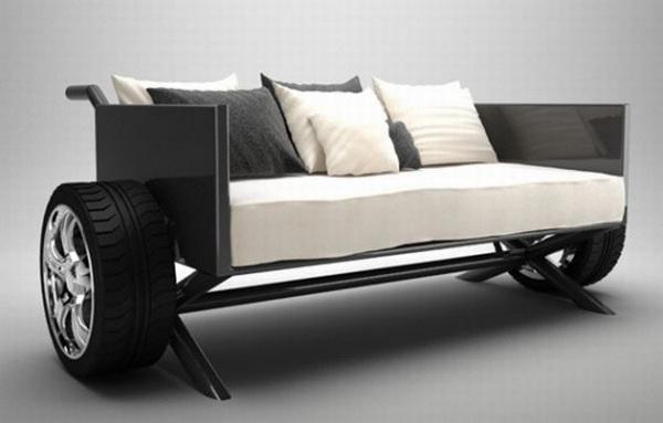 оригинальный диван Pimp Souk с колесами вместо ножек