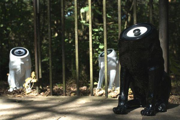 Колонки в виде собаки без головы от дизайнера Sander Mulder