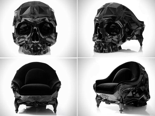 Кресло в форме черепа от Harold Sangouard