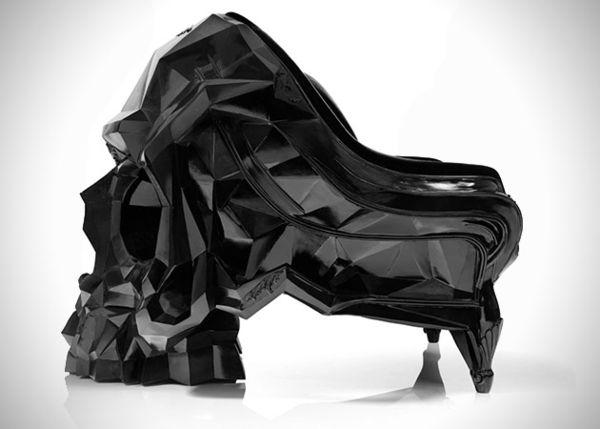 Оригинальное кресло в форме черепа от Harold Sangouard