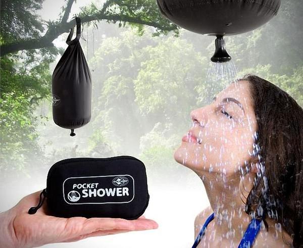 миниатюрный карманный душ от Sea to Summit