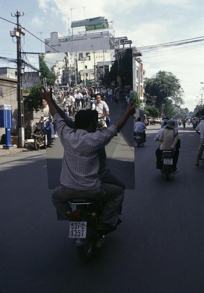 Перевозка зеркала во Вьетнаме.