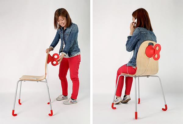 Стул Wind-Up Chair, который может зарядить смартфон