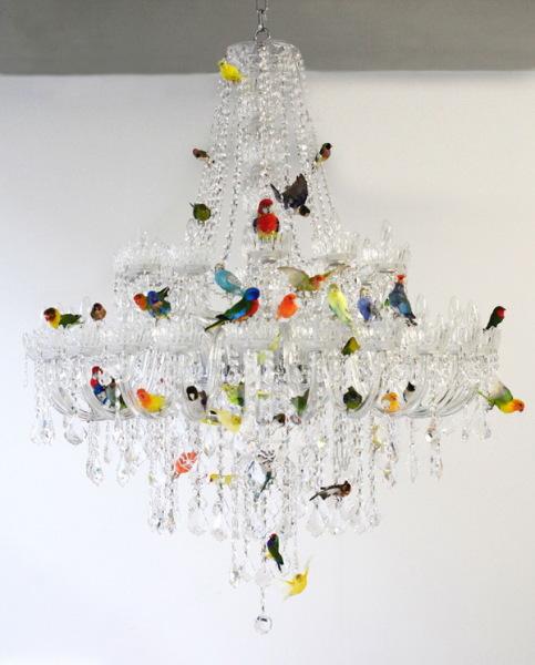 Уникальная люстра XL bird chandelier