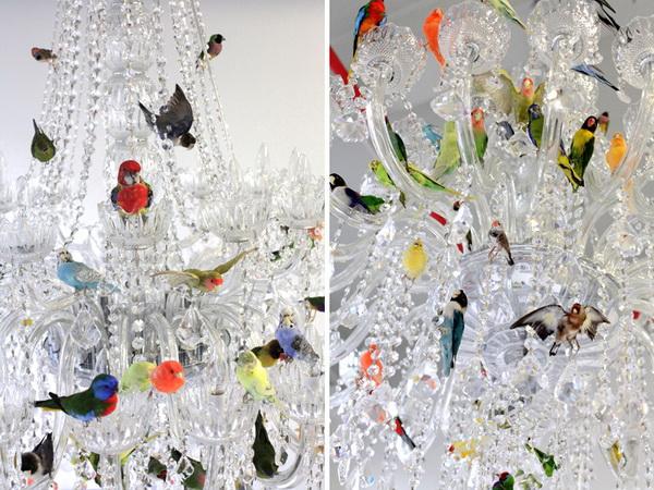 Птицы на люстре XL bird chandelier