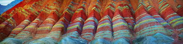 Уникальные цветные горы Danxia Landform.