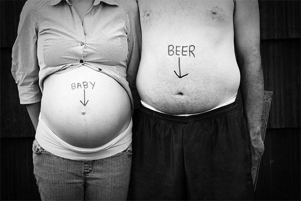 когда у мамы живот больше, чем у папы