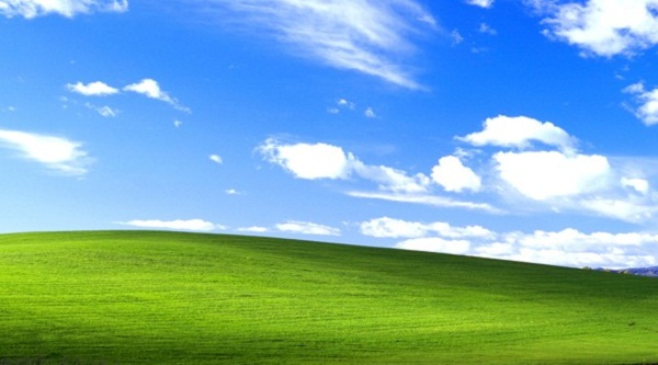Фон Windows XP.