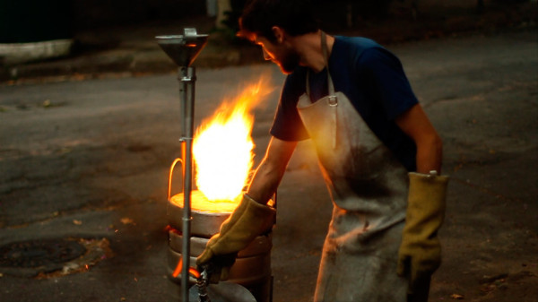 Производство табуреток из алюминиевых банок