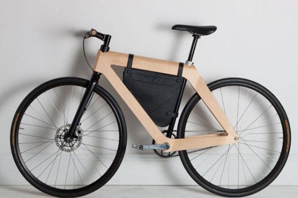 велосипед с деревянной рамой