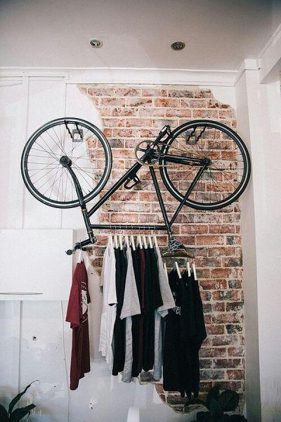 Применение велосипеда в интерьере