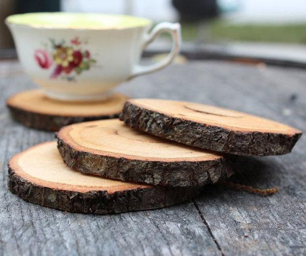 Подставки под чашки из дерева