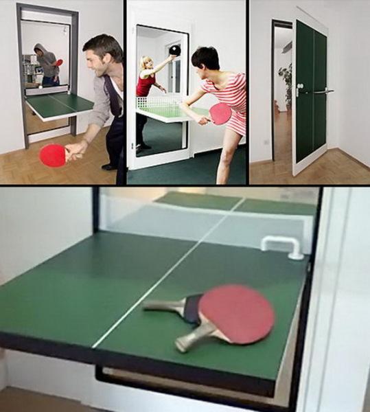 Дверь со столом для пинг-понга