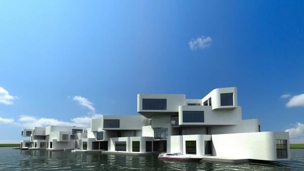Экологичный плавучий жилой комплекс