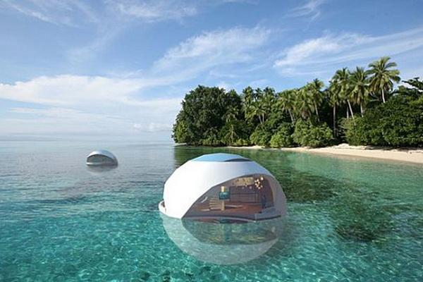 Плавающий дом-пузырь Oyster