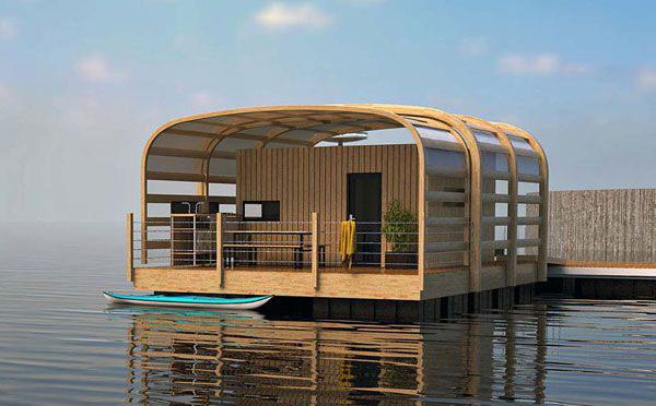 Плавающий дом Kevell европейской компании Aquashell
