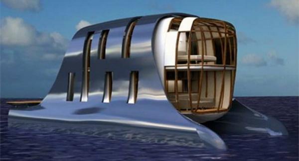 Плавучий дом-кит для жизни на воде