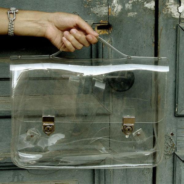 Портфель из прозрачного пластика