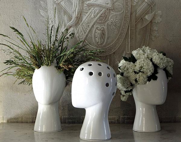 Цветы в качестве волос: ваза - женская голова