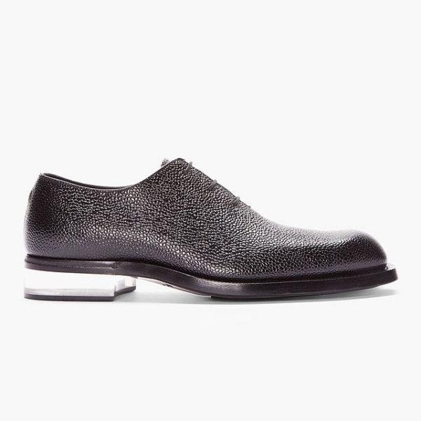 обувь из кожи ската на прозрачном каблуке