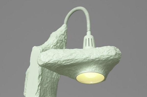 Деталь светильника из папье-маше.