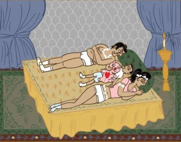 когда ребенок спит с родителями