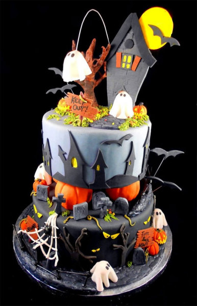 зловещий торт к хэллоуину