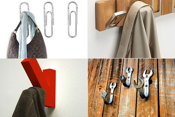 необычные крючки для одежды
