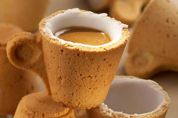 Чашка из печенья
