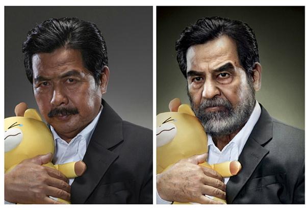 Прототип Саддама Хусейна.