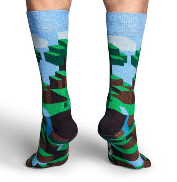 носки-камуфляж, созданные в честь minecraft