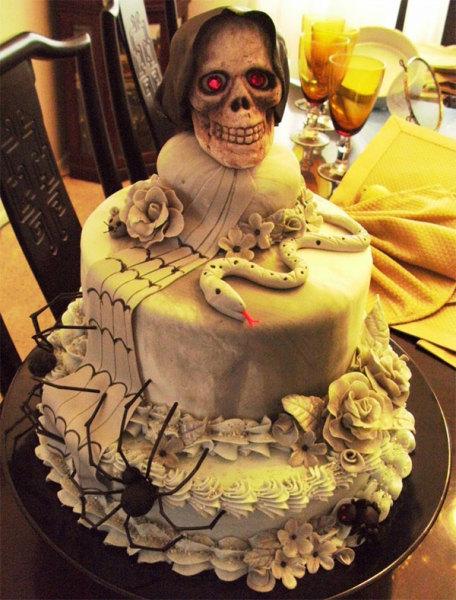зловещий торт ко дню всех святых
