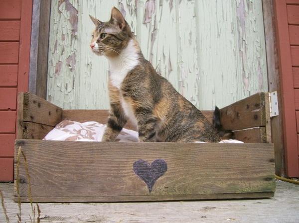 Домик для кошки из поддонов