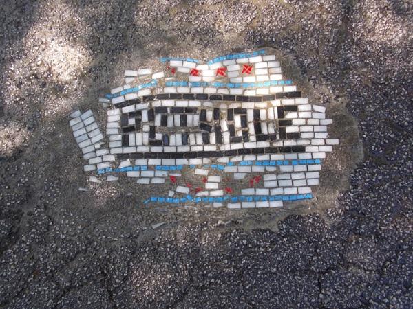 Мозаика на дорогах.