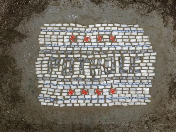 Мозаика на дорогах Чикаго.