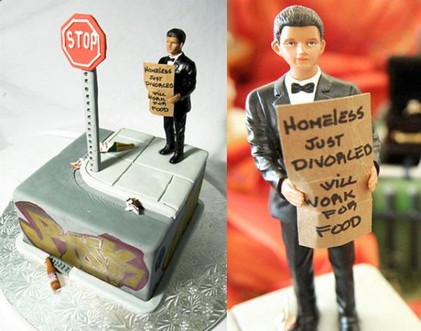 Оригинальный торт в честь развода.