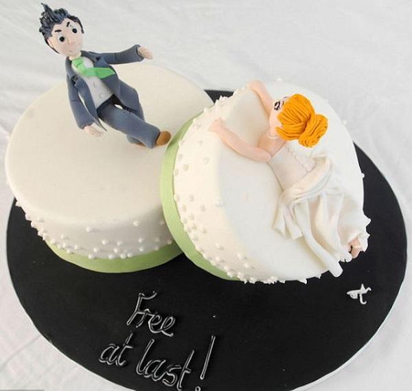 Необычный торт в честь развода.