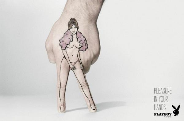 Реклама Playboy.