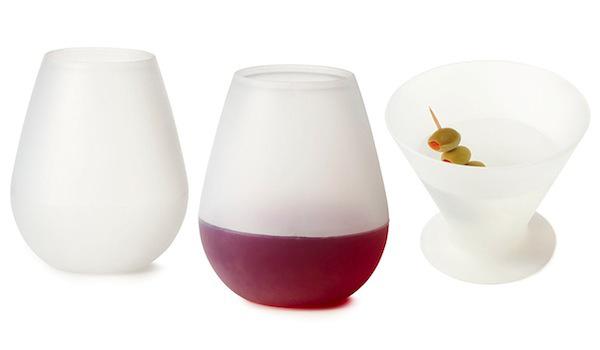 Силиконовые бокалы Glasse для мартини и вина