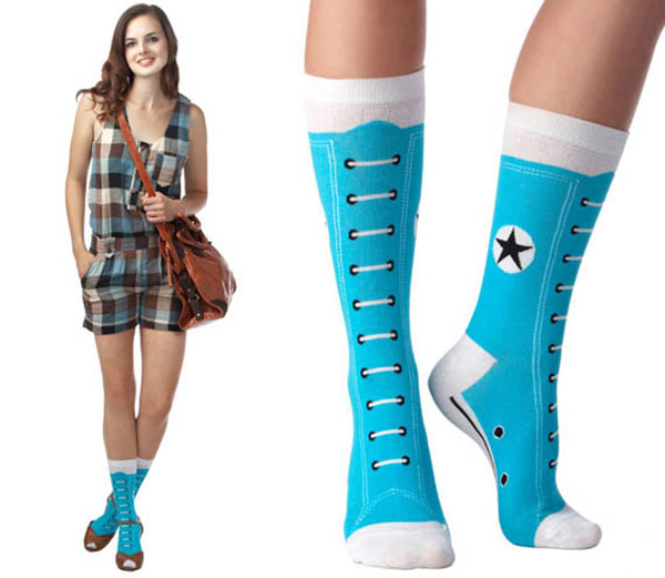 носки со шнуровкой
