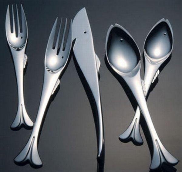 Столовые приборы в виде рыбы