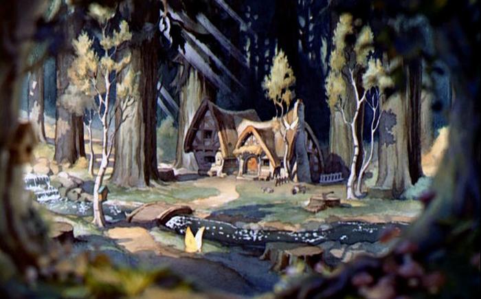 Домик семи гномов из мультфильма «Белоснежка и семь гномов»