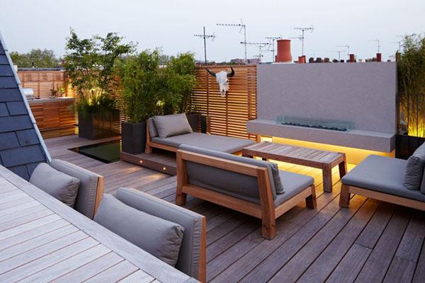 Терраса-сад на крыше