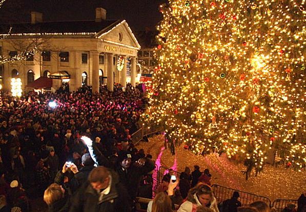 Рождественская елка в Бостоне  (Массачусетс)
