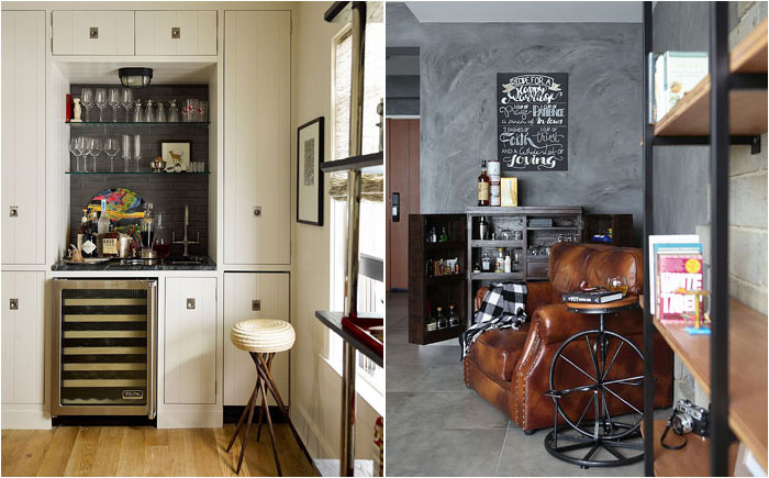 20 оригинальных идей обустройства стильных домашних баров
