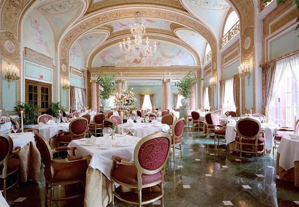 Ресторан The French Room at the Adolphus, Dallas, Texas.