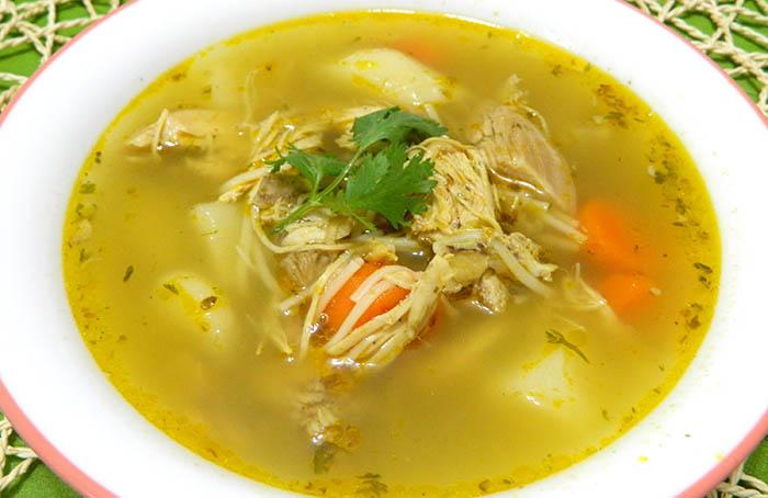 Куриный суп от простуды