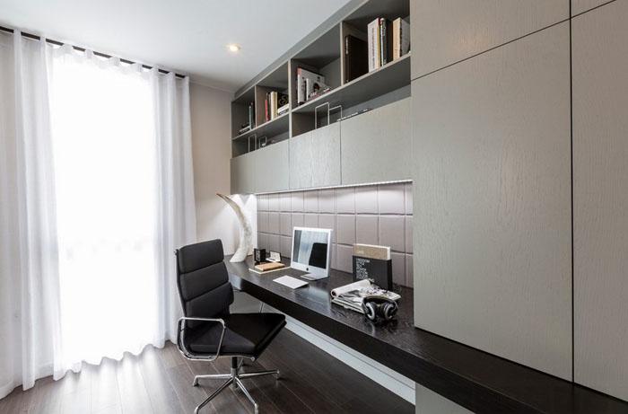 Интерьер домашнего офиса в лондонском пентхаусе
