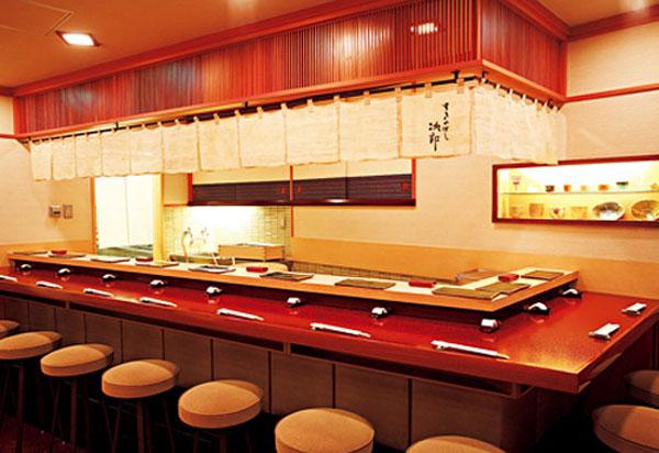 Ресторан Sukiyabashi Jiro, Tokyo, Japan.