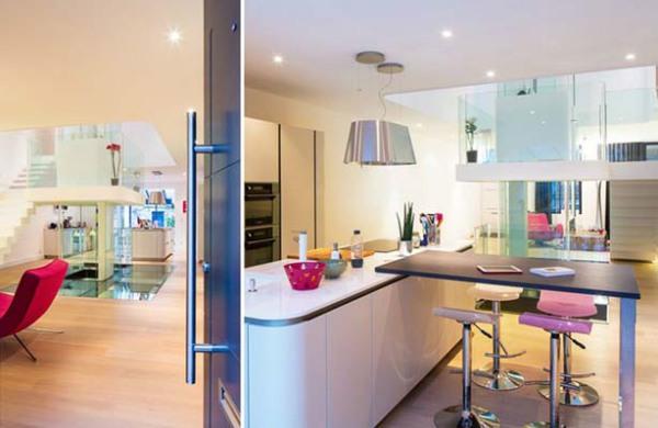 Открытая планировка - кухня и гостиная